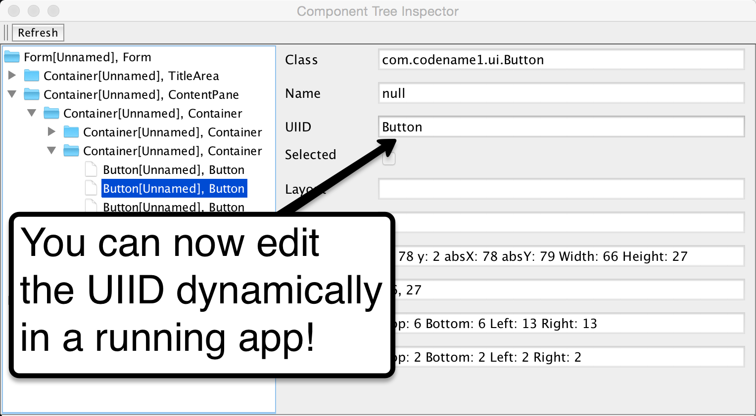 Edit UDID in Component Inspector
