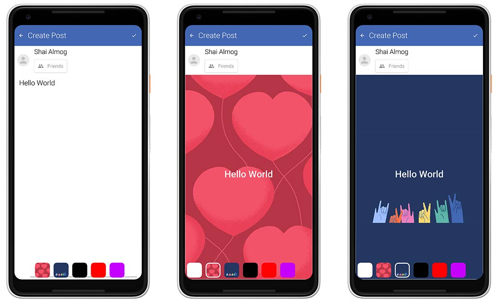 New Post Form in The Facebook Clone App