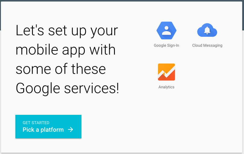 Google Setup Mobile App Form