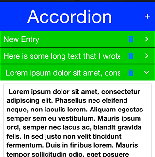 Accordion with delete button entries that work despite the surrounding lead